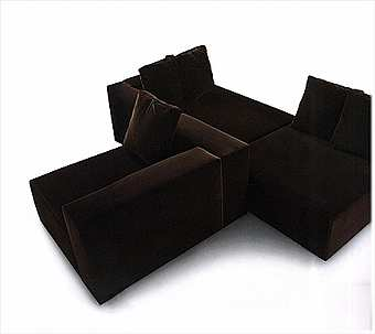 Диван EMMEMOBILI Home furniture (Nero) R152KD+R150KD
